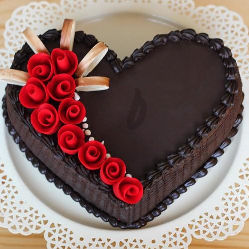 Heart German Truffle Cake [1kg]