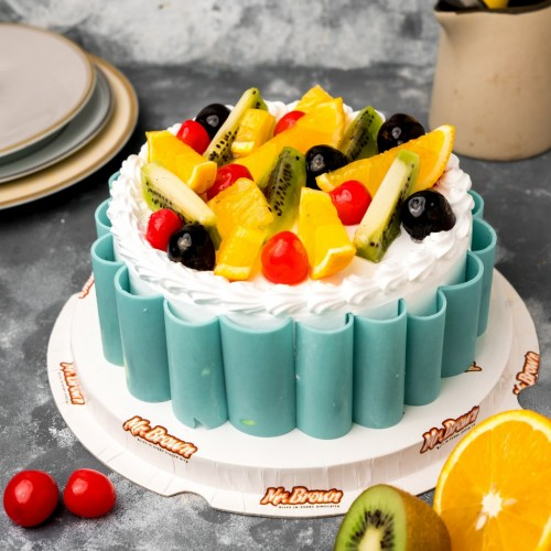 Tasty Fresh Fruit Cake [1kg]