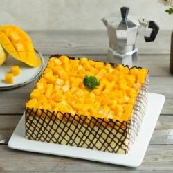 Sliced Mango Cake
