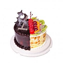 CAKES 2 IN 1 CHOCOLATE N FRESH FRUIT D1 (E/G)