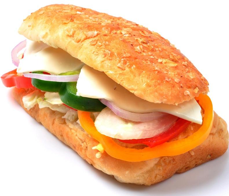 CHEESIE GREEN SUB SANDWICH (12)
