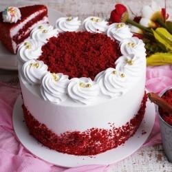 Pretty Red Velvet Cream Cake