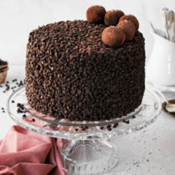 Dark Chocolate Truffle Cake [1kg]