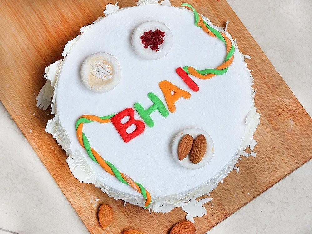 Pineapple Rakhi Cake