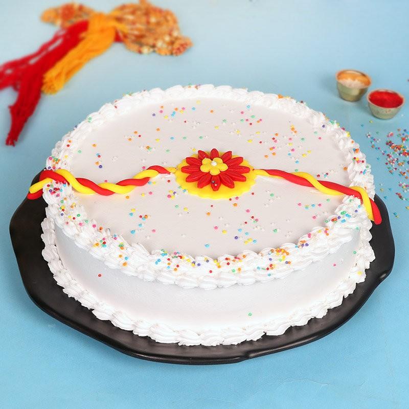 Rakhi Special Whiteforest Cake