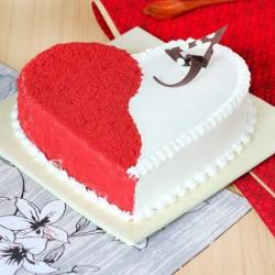 Pineapple Red Heart Cake