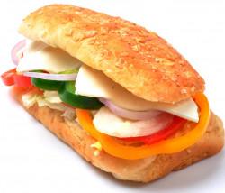 CHEESIE GREEN SUB SANDWICH (6IN)