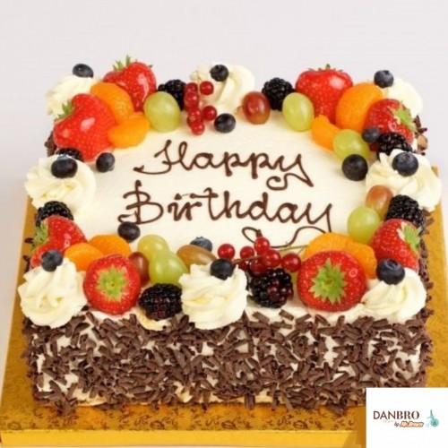 Square Fresh Fruit Cake [1kg]