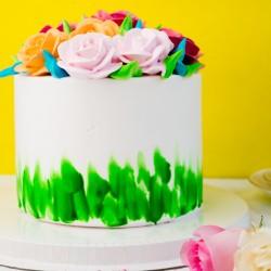 Floral Pineapple Cake [1kg]