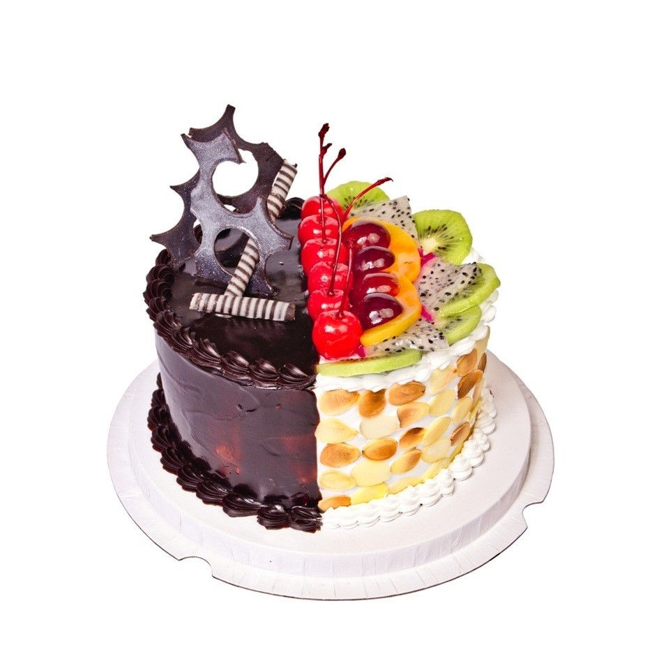 CAKES 2 IN 1 CHOCOLATE N FRESH FRUIT D1 (E/L)