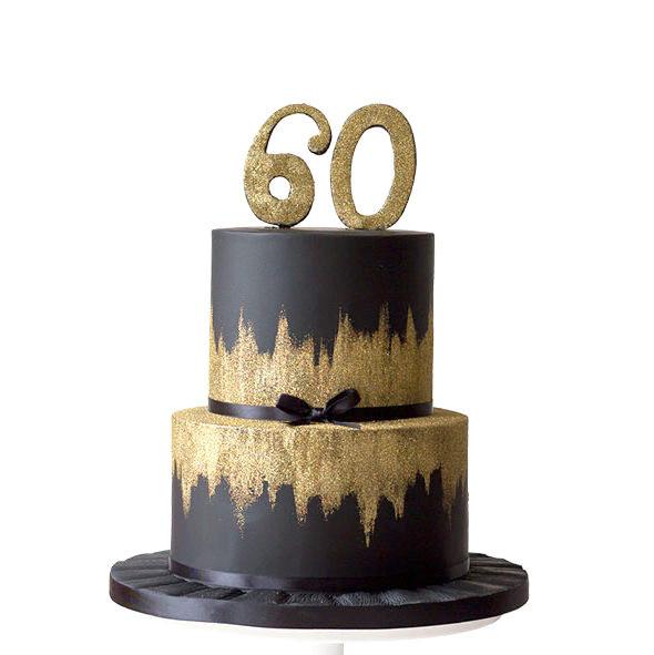 Black N Gold Chocolate Fondant Cake