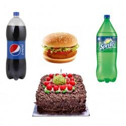 Customized Combo (Cake/Cold Drink/ Veg Burger)
