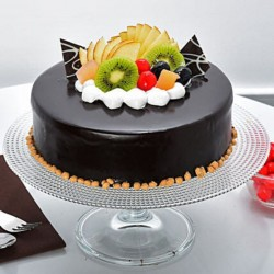 Fruit Topping Chocolate Cake [1kg]