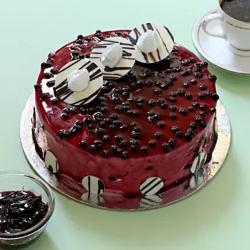 Decorated Blueberry Cake [500g]