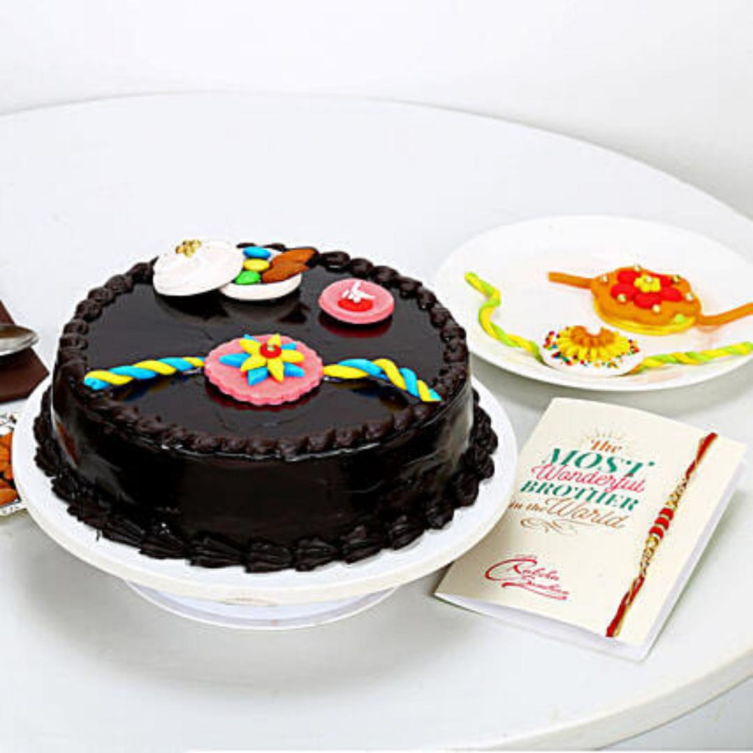 German Truffle Rakhi Cake