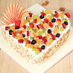 Heart Fresh Fruit Cake [1kg]